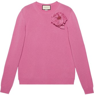 Gucci Detachable Rose Corsage Jumper