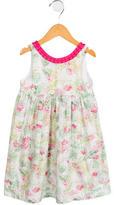 Tartine et Chocolat Girls' Floral Print Ruffle-Trimmed Dress