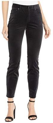 Vineyard Vines Jamie High-Rise Velveteen Pants (Jet Black) Women's Casual Pants