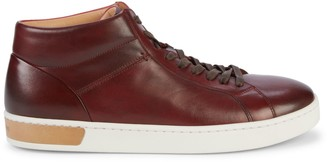 Magnanni Lace-up Leather High-Top Sneakers