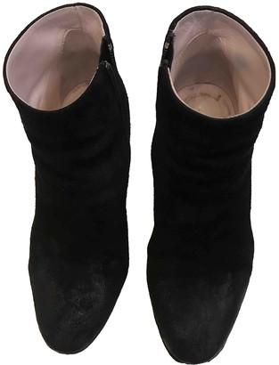 Nicholas Kirkwood Black Suede Ankle boots