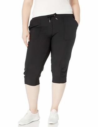 Calvin Klein Women's Rib Cuff Bottom Capri Pant (Regular & Plus Sizes)