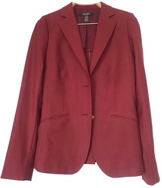 Brooks Brothers Burgundy Wool Jacket for Women