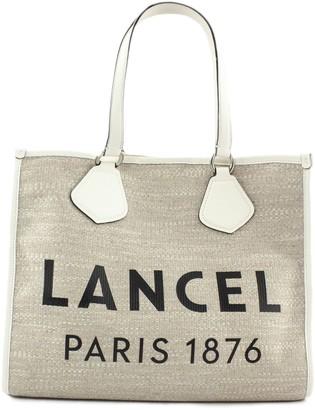 Lancel White And Jute Summer Bag