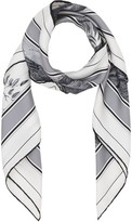 Burberry monkey print square scarf
