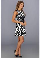 BCBGMAXAZRIA Jo Geometric Jacquard Dress
