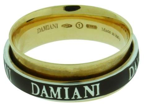 Damiani 18K Rose Gold & Diamond Twister Double Band Ring Size 7.5