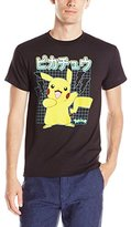 Pokemon Men's Pikachu Grid T-Shirt