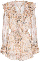 Zimmermann Silk Painted Heart Cascade Playsuit