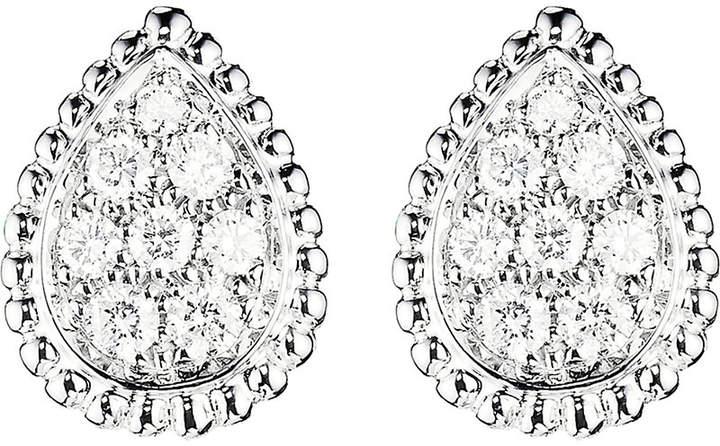 Boucheron Serpent Bohème 18ct white-gold and diamond stud earrings