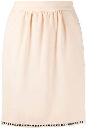Chanel Pre Owned 1990s Ribbon Detail Short Skirt