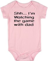 VRW Shh im watching the game with dad unisex Onesie Romper Bodysuit