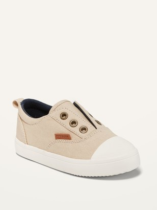 Old Navy Laceless Canvas Slip-On Sneakers for Toddler