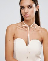 Johnny Loves Rosie Aria Gold & Blush Fabric Choker