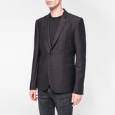Paul Smith Men's Slim-Fit Black And Red Flecked Cross-Hatch Blazer