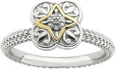 JCPenney FINE JEWELRY Personally Stackable Diamond-Accent Fleur-de-Lis Two-Tone Ring