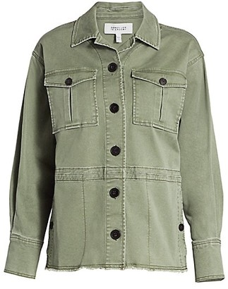 Derek Lam 10 Crosby Stretch Raw Hem Chino Jacket
