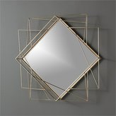 "CB2 Piazza Wire 22.5""X22.5"" Wall Mirror"