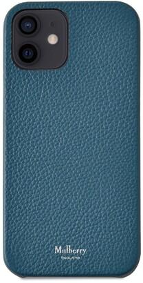 Mulberry iPhone 12 Case Black Small Classic Grain