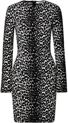 Givenchy Leopard-jacquard Mini Dress
