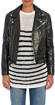 IRO Women's Naele Patent Leather Moto Jacket-BLACK