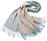 Sherry007 100% Wool Double Colored Large Scarf Shawl Wrap for Women(Various Colors)