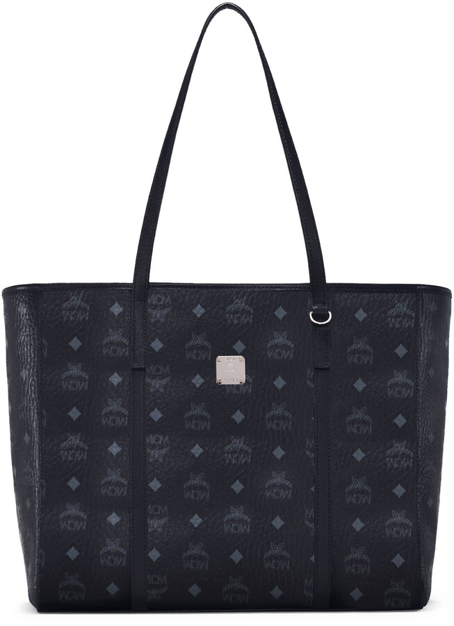 MCM Medium Toni Visetos Coated Canvas East/West Shopper