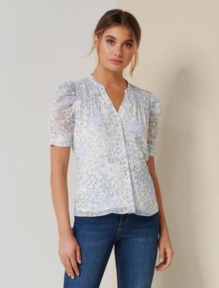 Ever New Jaiden Petite Ruched Sleeve Top