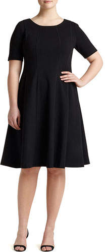Lafayette 148 New York Bev Short-Sleeve Dress, Plus Size
