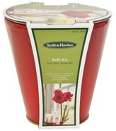 "Smith & Hawken Amaryllis (24/26) Grow Kit / Round TC Red Reactive Glaze (15""x15"