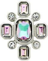Monet Vitrail Crystal Deco Brooch