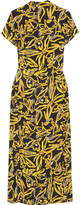 Diane von Furstenberg Printed Silk Crepe De Chine Dress - Yellow