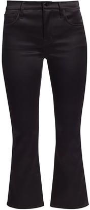 J Brand Selena Mid-Rise Satin Crop Bootcut Jeans