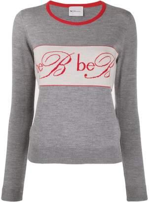 Blumarine Be Logo Embroidered Jumper
