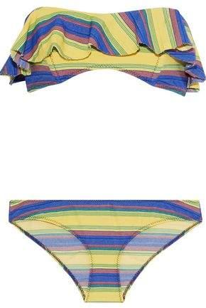 85016ce9345 Yellow Bandeau Swimwear - ShopStyle