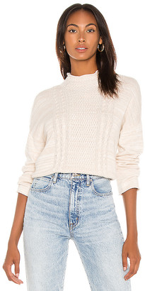 SWTR Funnel Neck Cable Sweater