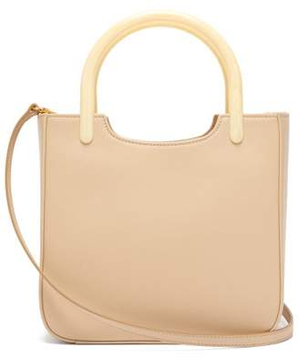 BY FAR Eric Leather Handbag - Womens - Cream