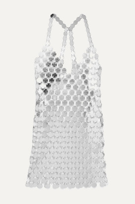 Fannie Schiavoni Cara Chainmail Mini Dress - Silver
