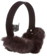 Adrienne Landau Fur-Trimmed Earmuffs w/ Tags