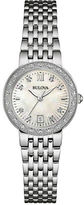 Bulova Diamond-Accented Stainless Steel Braclet Watch