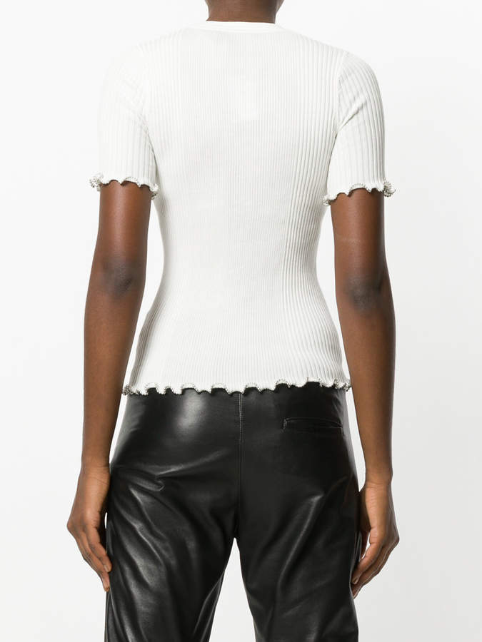 Alexander Wang ballchain trim top
