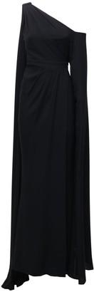 ZUHAIR MURAD Draped Light Cady Dress