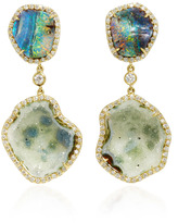 Kimberly McDonald Light Geode and Boulder Opal Double Drop Earrings