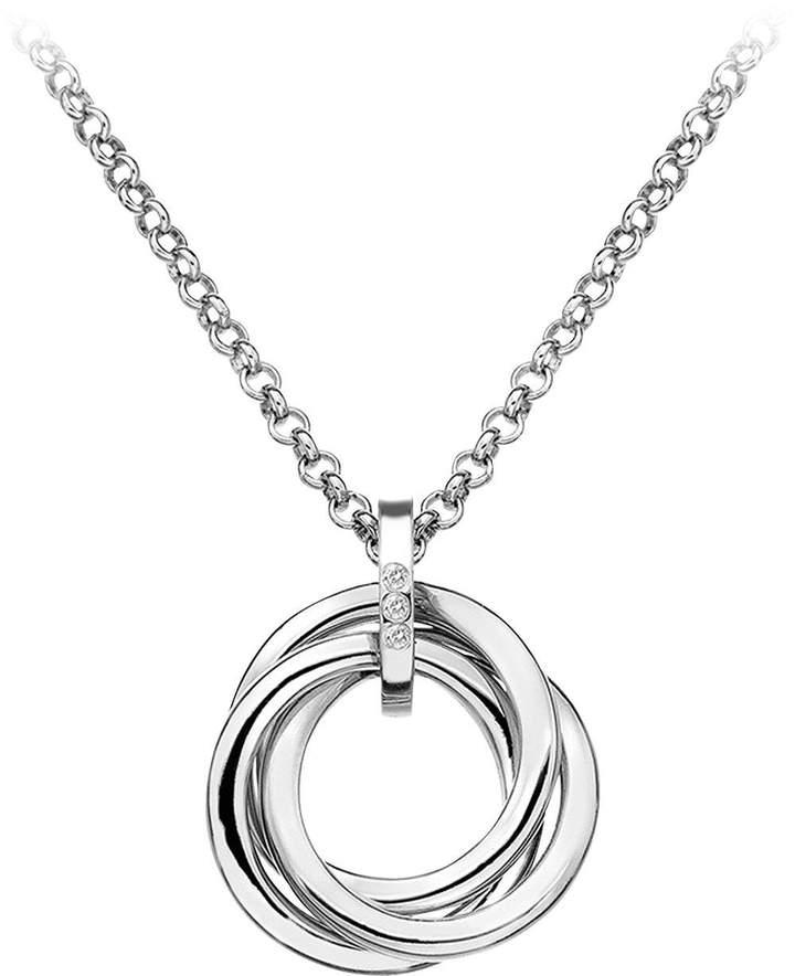 Hot Diamonds Sterling Silver Diamond Trio Ring Pendant