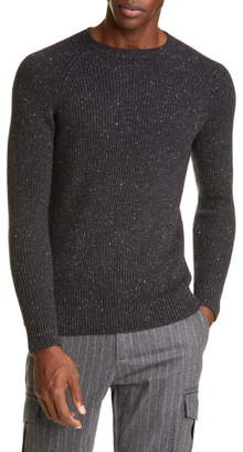 Eleventy Ribbed Cashmere Crewneck Sweater
