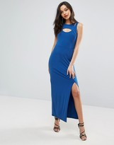 BCBGMAXAZRIA Racerfront Cutout Bodycon Dress