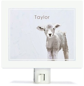 Oopsy Daisy Fine Art For Kids Baby Sheep Night Light Customize: Yes