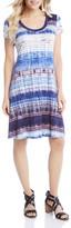 Karen Kane Tie-Dye Stripe Tee Dress