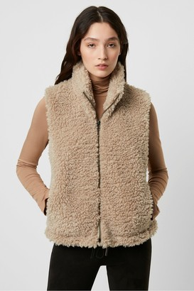 French Connection Fabi Faux Sherpa Gilet