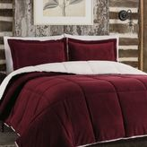 Bed Bath & Beyond So-SoftTM Plush Reversible Full/Queen Comforter Set in Burgundy